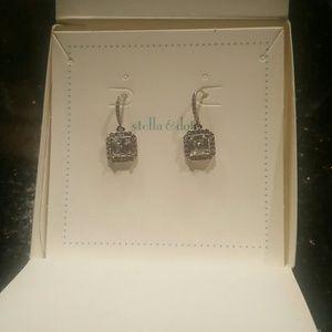 Stella & Dot earrings diamond like NEW